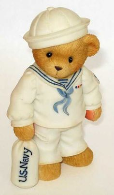Heidi´s Cherished Teddies Galerie: NAVY TEDDIE - Absence Makes Friendships Grow Stronger (706957)