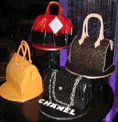 prada purse cakes   ... Prada, Chanel, Hermes and a Louis Vuitton handbag cake. Half-Baked