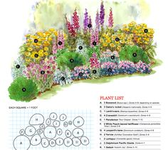 Bold Cottage Cottage Garden Plan from Better Homes & Gardens   http://www.bhg.com/gardening/plans/by-style/garden-plans-for-cottage-style/#page=7