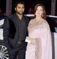Sachiin Joshi and wife Urvashi Sharma-Joshi at Tulsi Kumar's wedding reception in Mumbai. #Bollywood #Fashion #Style #Beauty