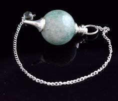 75 Cts Pleasing Amazonite Sterling Silver Plated Pendulam For Healing Energy F67 #valueforbucks