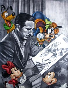 What a great piece of Walt Disney art. It's like all his future creations are already with him when that first drawing is born. Love!