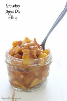 Homemade Stovetop Apple Pie Filling is quick and easy. You can add your favorite seasons like cinnamon, nutmeg, maple syrup and more.