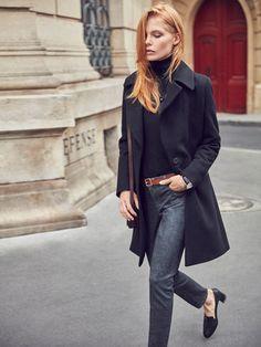 Los jeans de mujer otoño invierno 2016 de Massimo Dutti. Descubre pantalones vaqueros rotos, pitillos, rectos, relaxed, tobilleros, joggers o skinny.