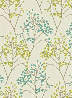 Florale Tapete Pippin von Sanderson - Teal/ Linden