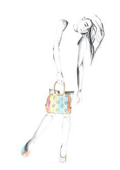 Ilustración bolsa franja Peyote Jacquard #artwork #doodle #pinedacovalin #fashion #boceto