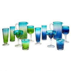 One of my favorite discoveries at ChristmasTreeShops.com: Mexican Hand-Blown Acrylic Barware Collection