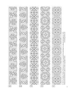 Blackwork patterns from a century Italian sampler Blackwork Cross Stitch, Blackwork Embroidery, Cross Stitch Borders, Cross Stitch Charts, Cross Stitching, Cross Stitch Embroidery, Embroidery Patterns, Cross Stitch Patterns, Medieval Embroidery