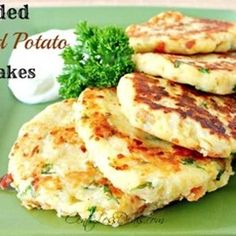 Loaded Mashed Potato Pancakes recipe!! This is probably thee best recipe!! Less flour and fat than most recipes use and I add green onions/scallions to mine......Yummy