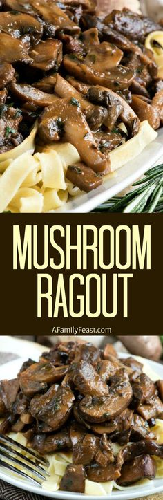 Mushroom Ragout - Made with four different kinds of mushrooms, this hearty ragout is loaded with fantastic flavor.