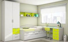 Small Room Design Bedroom, Small Bedroom Furniture, Bedroom False Ceiling Design, Kitchen Room Design, Kids Room Design, Kids Bedroom, Bedroom Decor, Green Boys Room, Teenage Room