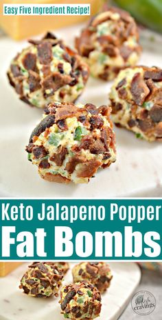 Keto Jalapeno Popper Fat Bombs - These no-bake Keto jalapeño popper fat bombs are a savory snack that is Easy to whip up and have handy for snacking. Shred Workout, Jalapeno Poppers, Coconut Recipes, Low Carb Recipes, Health Recipes, Crockpot, Keto Chocolate Fat Bomb, Chocolate Recipes, Cream Cheese Recipes
