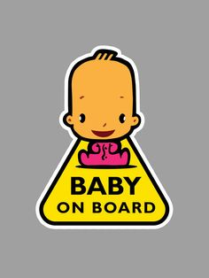 Car sticker Baby on board by MyBabyMary on Etsy