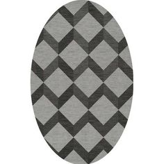 Dalyn Rug Co. Bella Gray/Black Area Rug Rug Size: Oval 4' x 6'