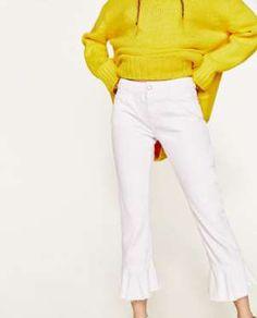 Jeans con volantes de Zara