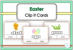$ Easter Clip It Cards