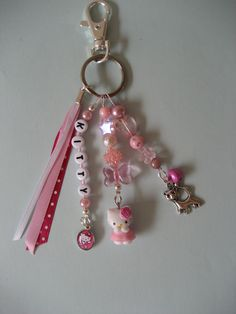 Cute Jewelry, Diy Jewelry, Beaded Jewelry, Jewelry Making, Diy Tassel, Diy Keychain, Bijoux Diy, Pony Beads, Beads And Wire