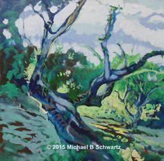 """Oak Creek"" Acrylic on Canvas, 2015 Oak Creek, My Arts, Fine Art, Landscape, Canvas, Artwork, Painting, Tela, Scenery"