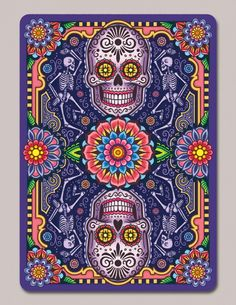 Dia de los Muertos Second Ed. Playing Cards by Edgy Brothers: Coloured Back | more here: http://playingcardcollector.net/2015/04/13/2015-week-14-upcoming-decks/