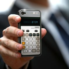 Old-school calculator iPhone case