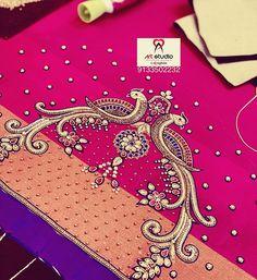 Kids Blouse Designs, Hand Work Blouse Design, Stylish Blouse Design, Blouse Neck Designs, Hand Designs, Wedding Saree Blouse Designs, Maggam Work Designs, Designer Blouse Patterns, Hand Embroidery Designs