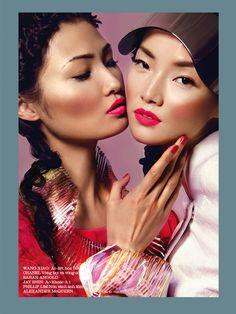 ASIAN MODELS BLOG: EDITORIAL: Jae Shin, Wang Xiao & Sung Hee in Elle Vietnam, March 2013
