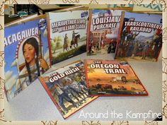 Westward Expansion series written by Rachel Lynnette geared toward Gr. 2-3 reading levels.   It's hard to find books on these topics for this reading level. Love these!! Available on Amazon