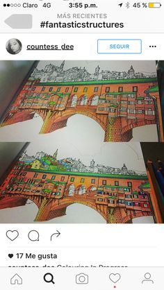 Coloring Books Buildings Colouring In Vintage Pages