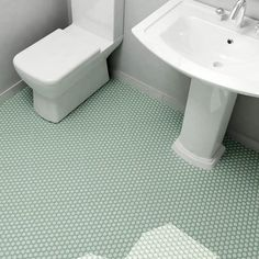 SomerTile 10.25x11.75-inch Victorian Hex Light Green Porcelain Mosaic Floor and Wall Tile (Case of 1