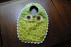 Baby Bib Alligator Baby Bib by ColeenO on Etsy