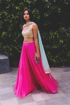 Indian designer pink lehenga choli for wedding outfit. For order whatsapp us on wedding outfits wedding dress wedding dresses lengha lehnga sabyasachi manish malhotra Indian Skirt, Dress Indian Style, Indian Dresses, Indian Lehenga, Lehenga Choli, Lehenga Skirt, Pink Lehenga, Net Lehenga, Sharara