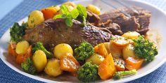 Carne de panela com brócolis
