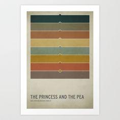 The Princess and the Pea Art Print by Christian Jackson - $25.00