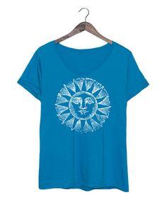 This Cobalt Celestial Sun Tee - Plus is perfect! #zulilyfinds