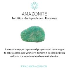Amazonite crystal healing properties: intuition, independence, harmony