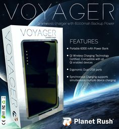 Planet Rush Portable QI Wireless & Solar Chargers Weekly Give Away!
