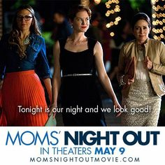 MOMS' NIGHT OUT is an endearing true-to-life family comedy that celebrates the beautiful mess called parenting. Starring Sarah Drew, Sean Astin, Patricia Heaton, and Trace Adkins, it opens in theaters Mother's Day weekend, May 9.