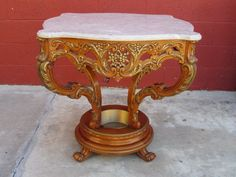 ~ Italian Accent Table Marble Top Table Italian Furniture ~ | Mr. Beasley's Antiques | rubylane.com