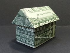 3-D HOUSE Dollar Origami - Building | Vincent-the-Artist