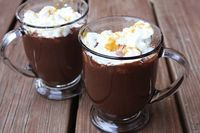 Salted Carmel Hot Chocolate; to go with the rest of the salted caramel craze that is my life lol