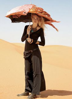 Umbrella with wrapped scarf