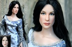No, you're not looking at some never-before-seen screen test for Liv Tyler as Arwen in The Lord of the Rings. This is a doll that was repainted by Noel Cruz, a versatile and distinguished repaint artist in the doll community. He is most recognized f