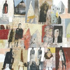 Original art for sale at UGallery.com | No Place Like Home by Scott Bergey | mixed media artwork