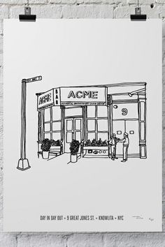 Your Favorite NYC Restaurants, Illustrated #refinery29   ACME