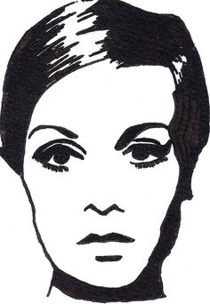 Twiggy Illustration #illustration