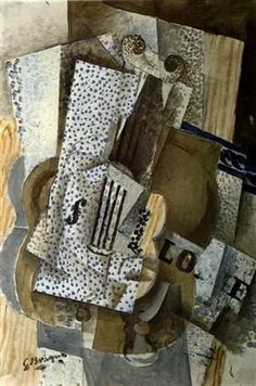 """Violin Melodie - Georges Braque  """"used ephemera in his work ..."""" I love looking at his work for inspiration """""""