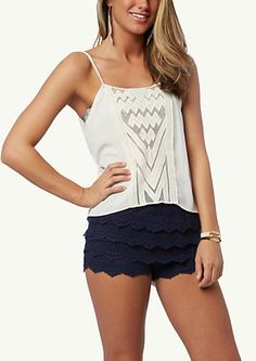 image of Geo Mesh Front Woven Cami