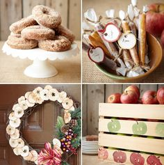 fresh donuts and apple party ideas