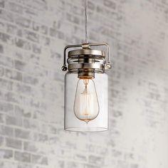 "Kichler Brinley 4 3/4"" Wide Brushed Nickel Mini Pendant - #6M201 | Lamps Plus"