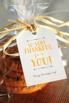 Free Printable: Thanksgiving Gift Tags.